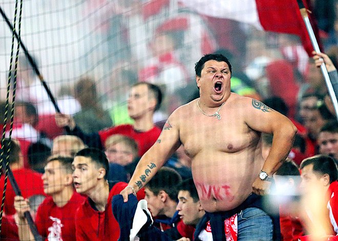 На матче «Спартак» — «Анжи»