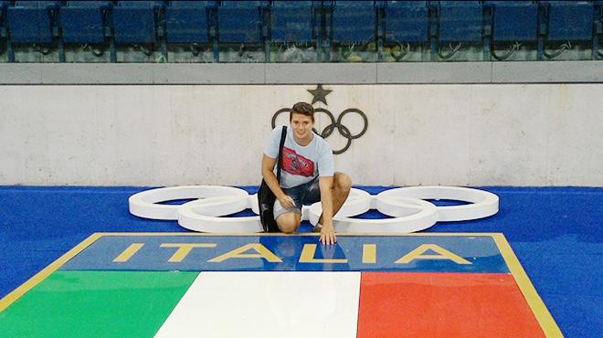 Корреспондент «Чемпионата» Леонид Волотко на Олимпийском стадионе в Риме