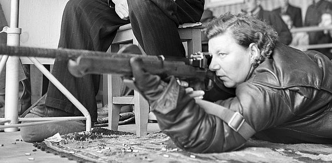 Елена Донская на соревнованиях. Март 1958 года