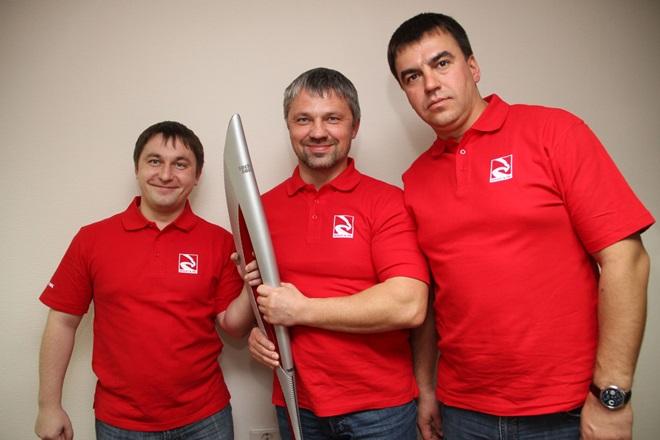 Максим Кирпилев (справа) и его коллеги по команде