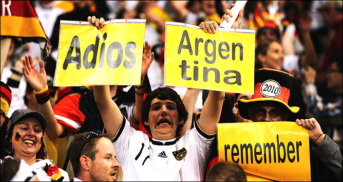 Германия - Аргентина 4:0 на ЧМ-2010