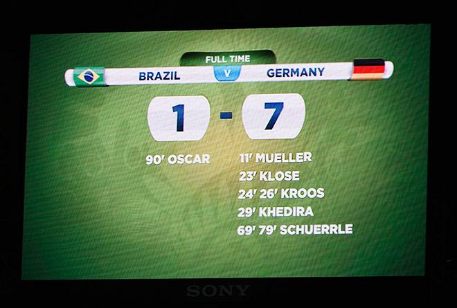 Бразилия — Германия — 1:7