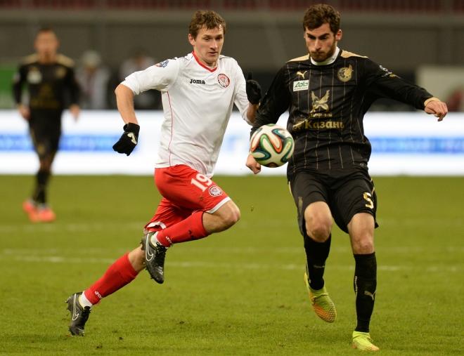 Соломон Кверквелия в матче против «Амкара»