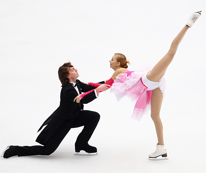 Юлия Антипова с партнёром