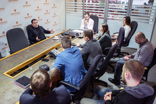 Генеральный директор «Спартака» Роман Асхабадзе в гостях у редакции «Чемпионата»