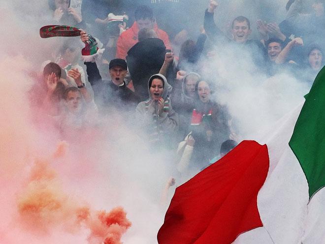 Матч «Уфа» — «Локомотив» прошёл в сильном тумане