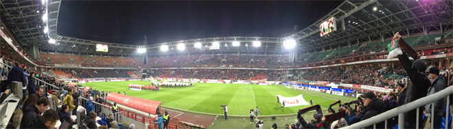 Панорама стадиона в Черкизово