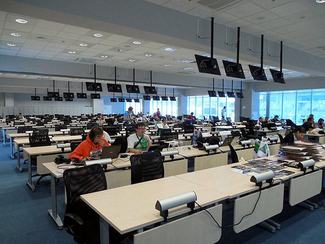Один из четырёх пресс-центров «Сочи Автодрома»
