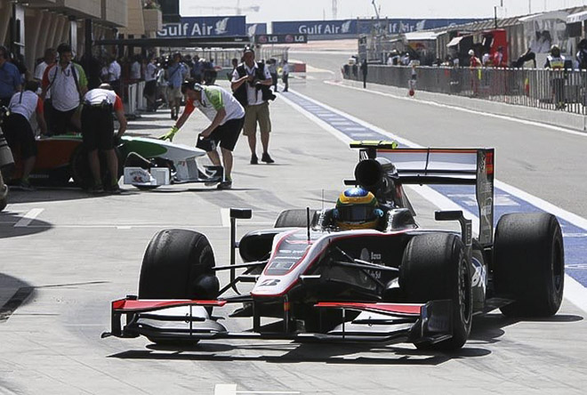 Бруно Сенна за рулём «Хиспании» F110 в пятницу