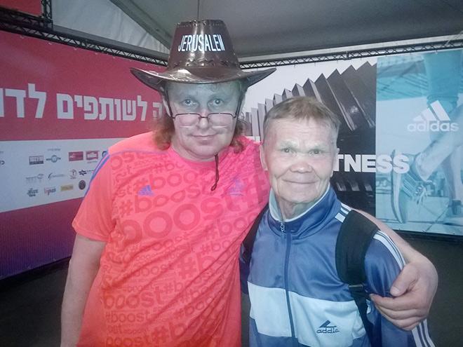 Михаил Ямбулатов на марафоне в Тель-Авиве