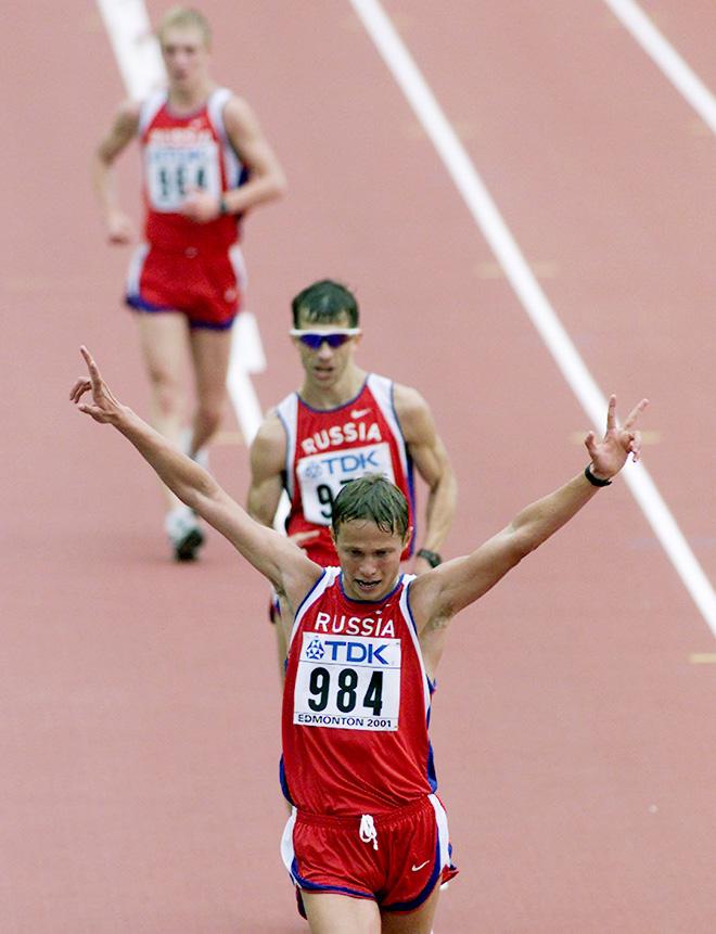 На ЧМ-2001 три российских ходока финишировали практически вместе – в пяти секундах