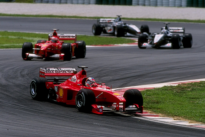 Две «Феррари» опережают два «Макларена» в Гран-при Малайзии–1999
