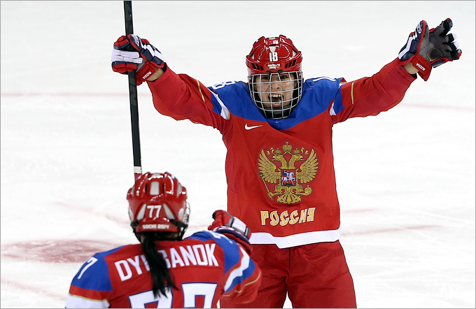 Женский хоккей. Россия — Германия — 4:1