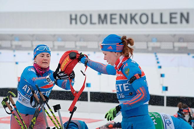 Екатерина Юрлова и Екатерина Шумилова на официальной тренировке