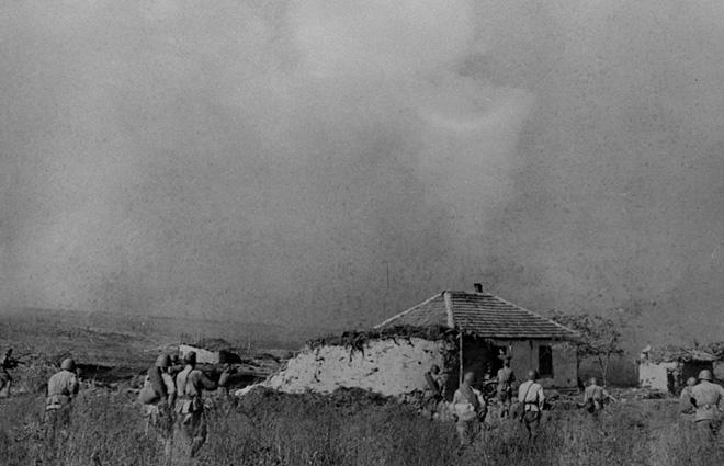 Битва за населённый пункт на Кавказе