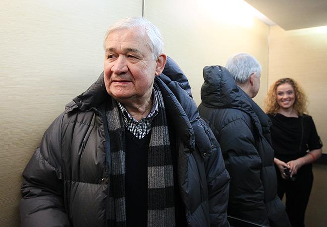 Владимир Юрзинов и редактор хоккейного раздела Алёна Шилова