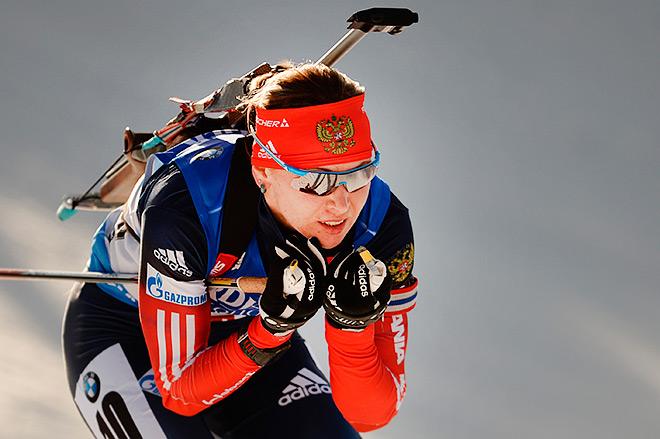 Российские биатлонисты выиграли эстафету в Хохфильцине