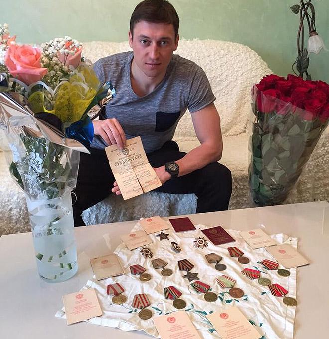 Александр Легков и награды прадеда Константина
