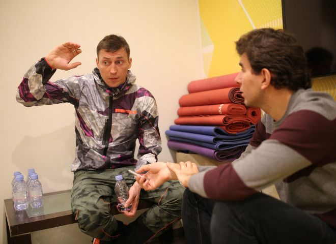 Александр Легков и Лев Савари