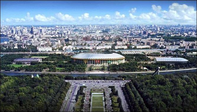 """Стадион  """"Лужники """" в Москве."""