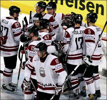 Сборная Латвии — наш первый соперник на ЧМ-2013