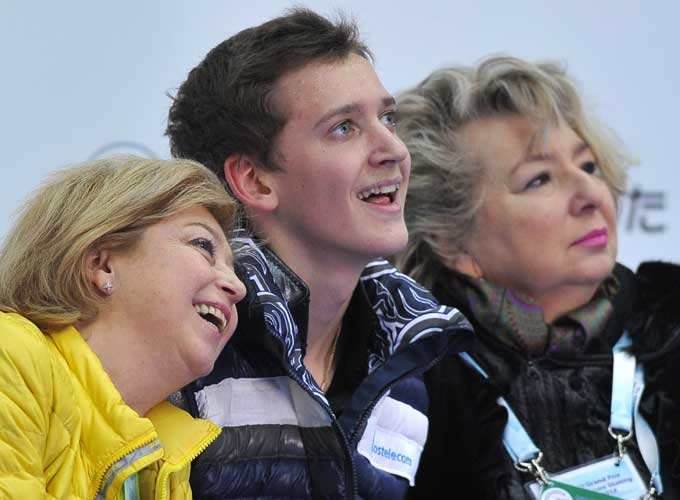 Максим Ковтун с тренерами