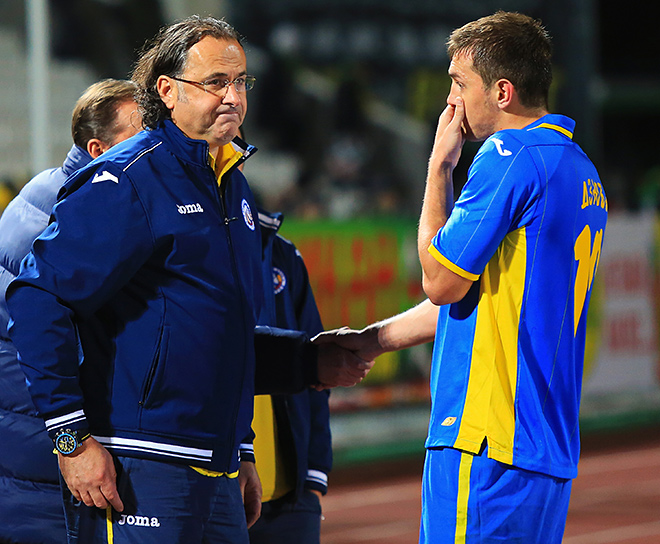 Миодраг Божович и Артём Дзюба