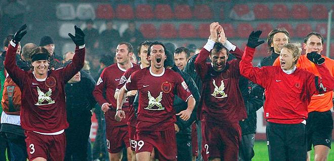 «Рубин» празднует победу в чемпионате