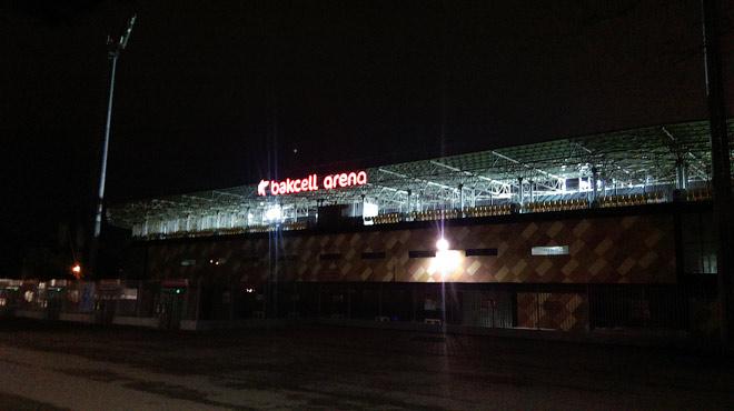 «Баксель Арена» в ночи