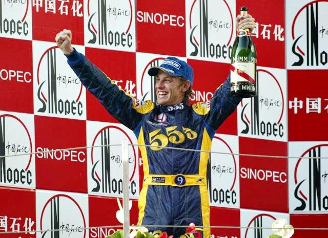 Дженсон Баттон на подиуме Гран-при Китая-2004