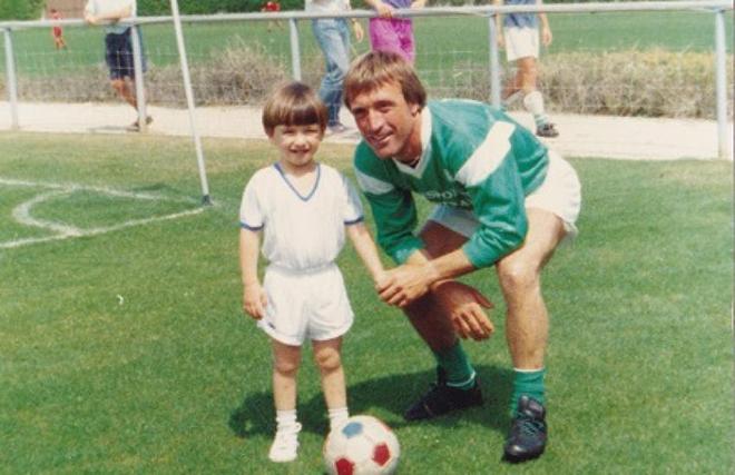 Вальбуэна с отцом Карлосом – игроком «Бланкфора»