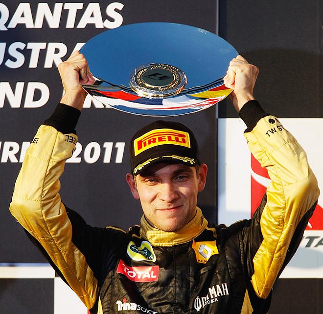 Виталий Петров на подиуме Гран-при Австралии – 2011
