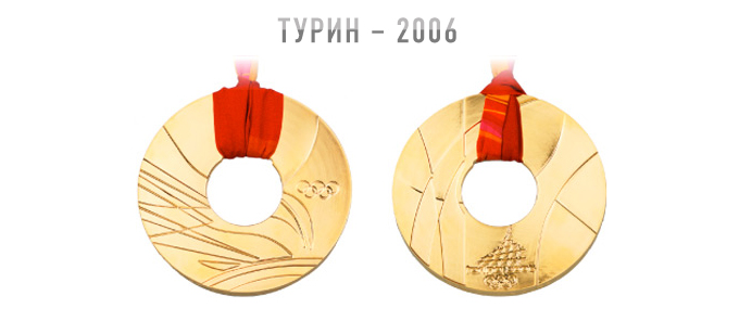 """Медаль Олимпиады """"Турин-2006"""""""