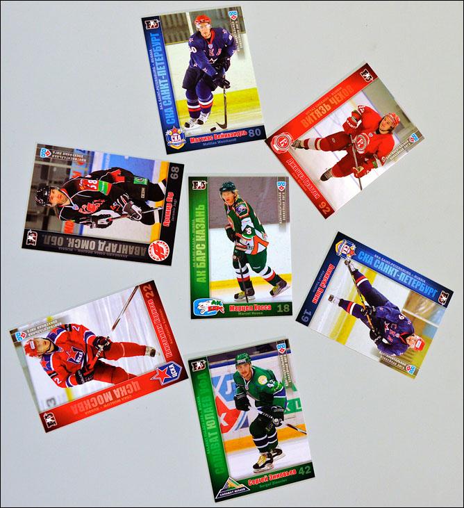 Хоккейные карточки. Фото 04.