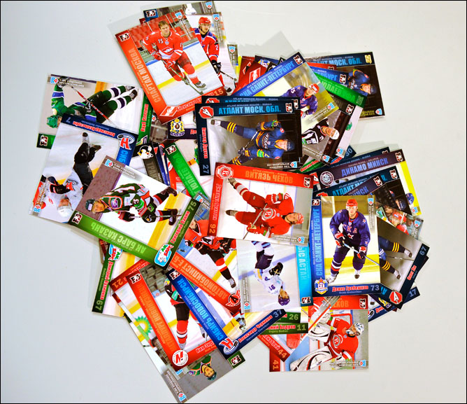 Хоккейные карточки. Фото 05.
