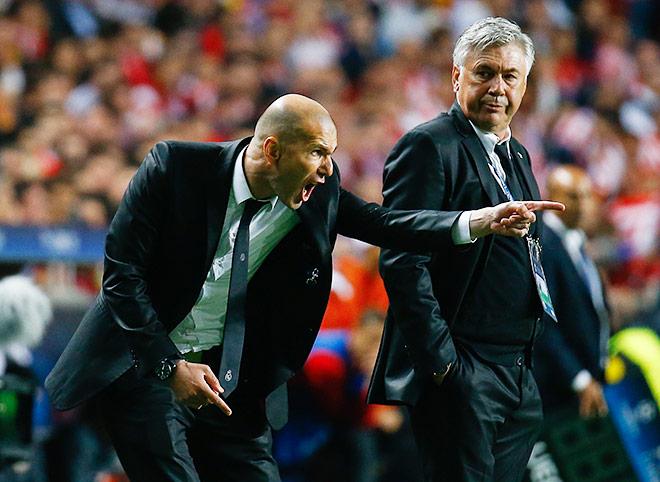 Зидан помогает Карло Анчелотти в «Реале»