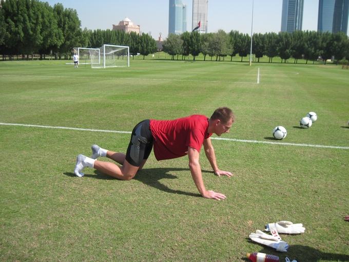 Артём Ребров на тренировке