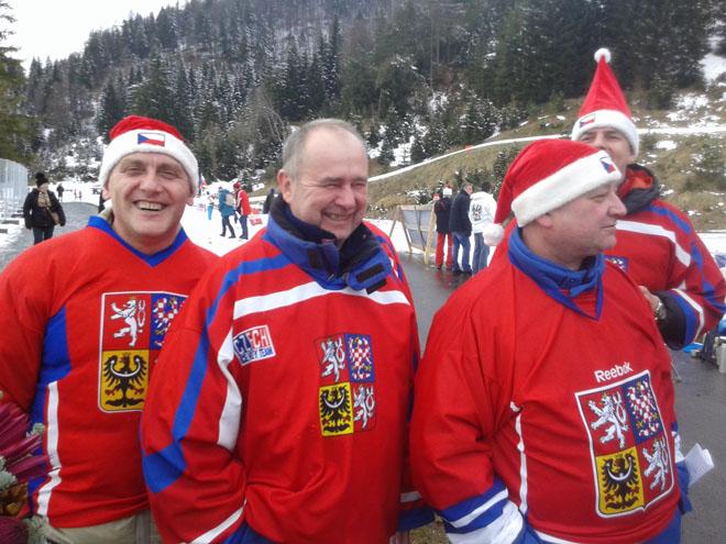 Чешские поклонники биатлона