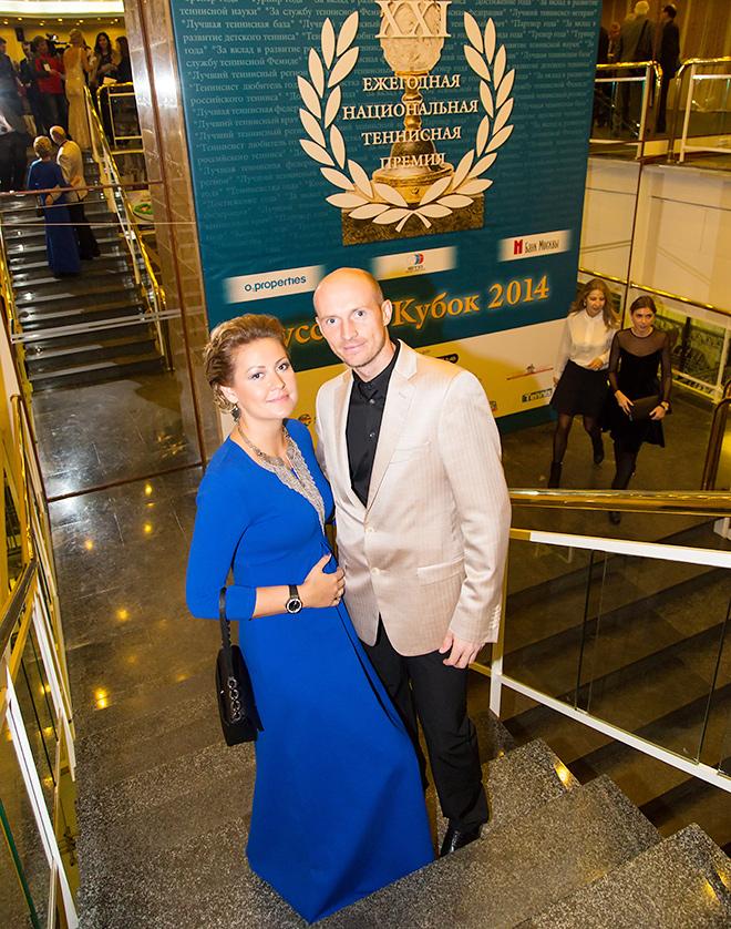 Николай Давыденко с супругой Ириной