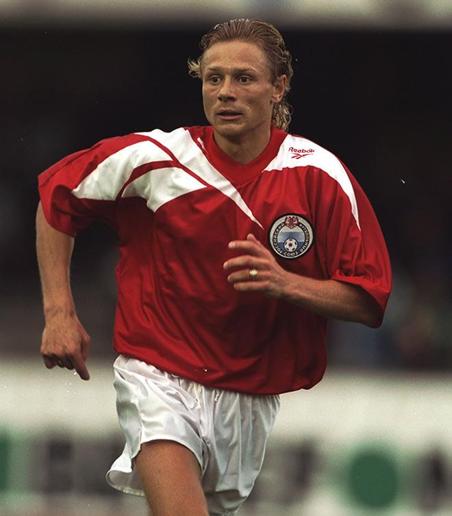 Красный вариант формы сборной России 1995 года