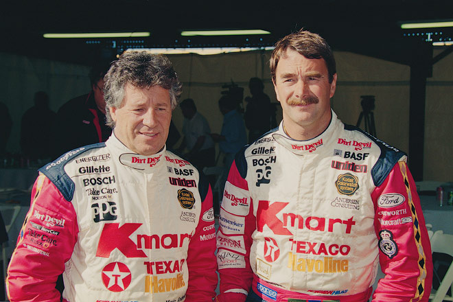 Марио Андретти и Найджел Мэнселл – напарники в IndyCar