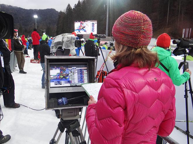 Специальный монитор немецкого телевидения установлен прямо на стрельбище