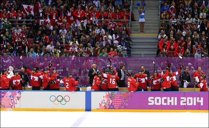 23 февраля 2014 года. Сочи. XXII зимние Олимпийские игры. Хоккей. Финал. Швеция — Канада — 0:3
