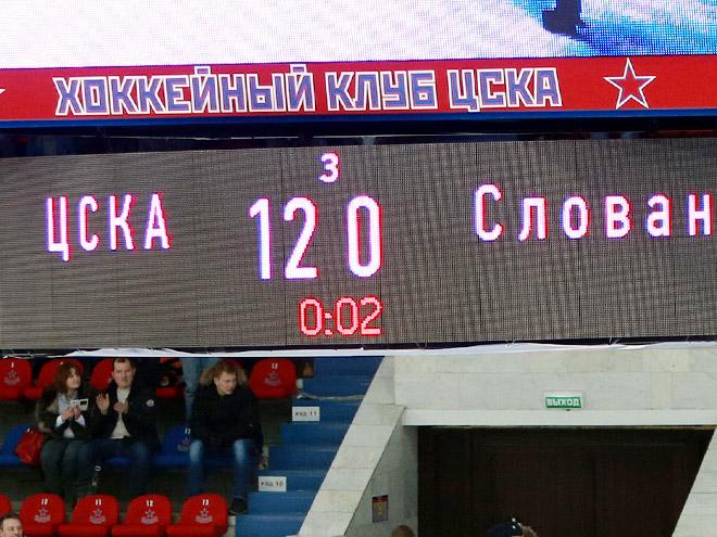 ЦСКА установил рекорд КХЛ, разгромив «Слован» со счётом 12:0
