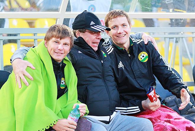 Андрей Аршавин и Роман Павлюченко с массажистом «Кубани» Виктором Дадашевым