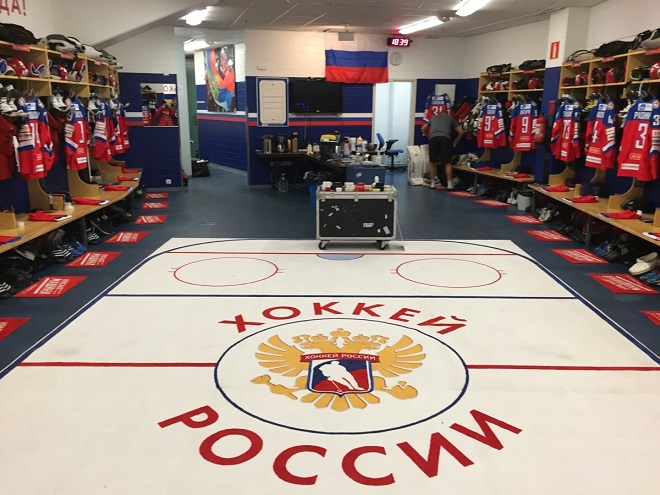 Раздевалка сборной России
