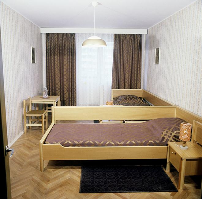 Жилая комната в одном из домов Олимпийской деревни