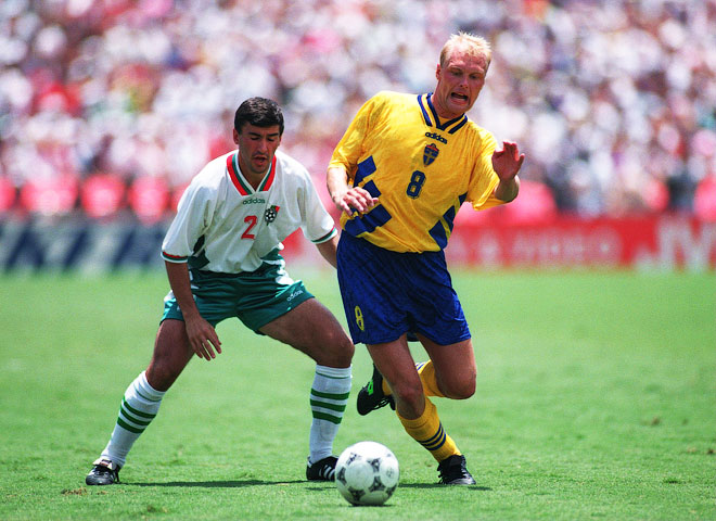 Клас Ингессон (справа) на чемпионате мира 1994 года