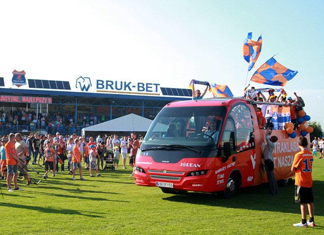 «Термалика» празднует выход в высший польский дивизион