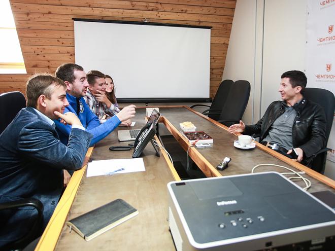 Евгений Алдонин в гостях у редакции «Чемпионата»